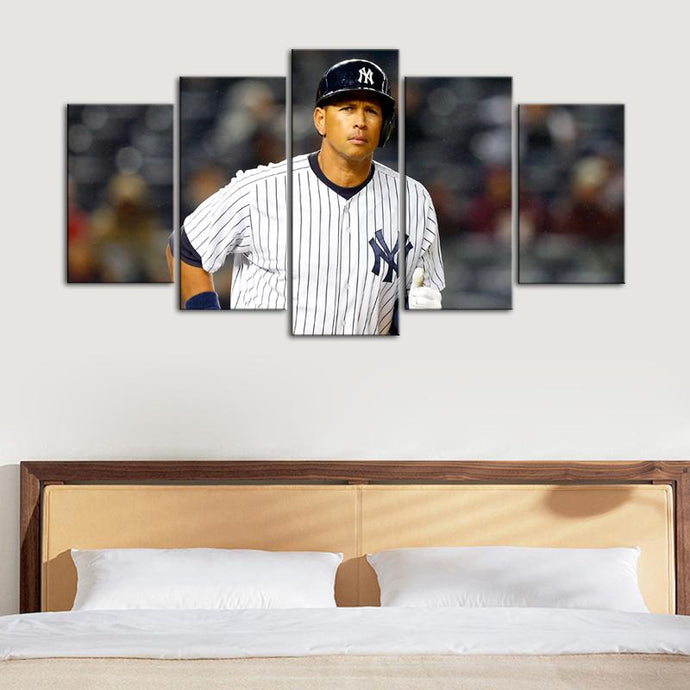 Alex Rodriguez New York Yankees Canvas 5 Pieces Wall Painting Canvas
