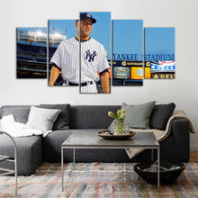 Load image into Gallery viewer, Derek Jeter New York Yankees Canvas 5 Pieces Wall Painting Canvas