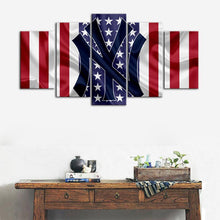 Load image into Gallery viewer, New York Yankees American Flag Wall Canvas