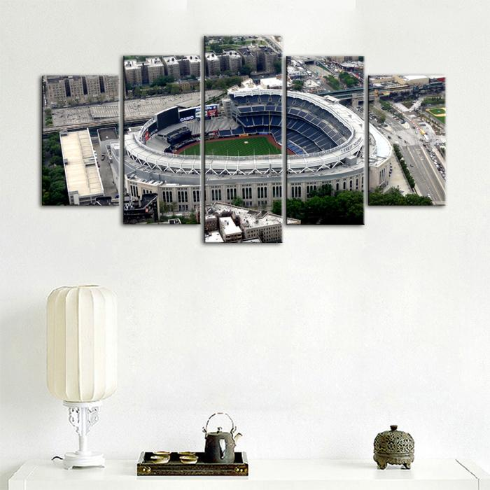New York Yankees Areal View Stadium Canvas 1