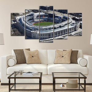 New York Yankees Areal View Stadium Canvas 2