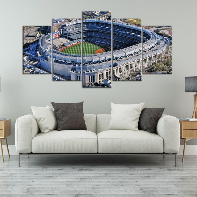 New York Yankees Areal View Stadium Canvas 3
