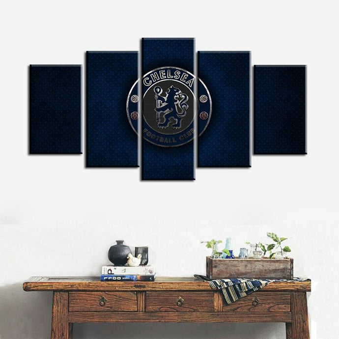 Chelsea F.C. Steal Look 5 Pieces Wall Painting Canvas