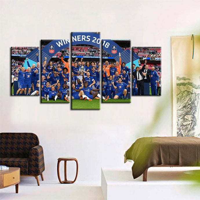 Chelsea F.C. Winner 2018 5 Pieces Wall Painting Canvas