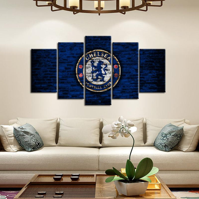 Chelsea F.C. Bricks Wall Canvas