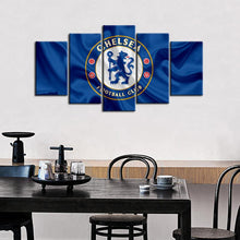 Load image into Gallery viewer, Chelsea F.C. Fabric Look  5 Pieces Wall Painting Canvas