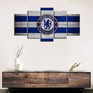 Chelsea F.C. Wooden Look Canvas