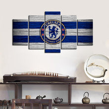 Load image into Gallery viewer, Chelsea F.C. Wooden Look Canvas
