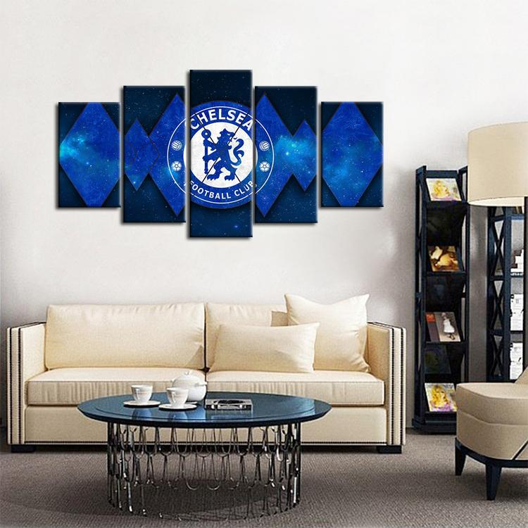 Chelsea F.C. Diamond Cuts Canvas