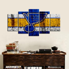 Load image into Gallery viewer, St. Louis Blues Rough Look Canvas