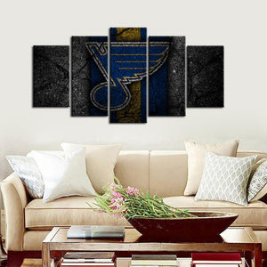 St. Louis Blues Rock Style 5 Pieces Wall Painting Canvas
