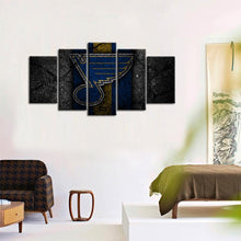 Load image into Gallery viewer, St. Louis Blues Rock Style 5 Pieces Wall Painting Canvas