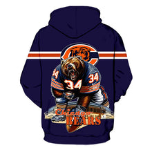 Load image into Gallery viewer, Chicago Bears 3D Hoodie