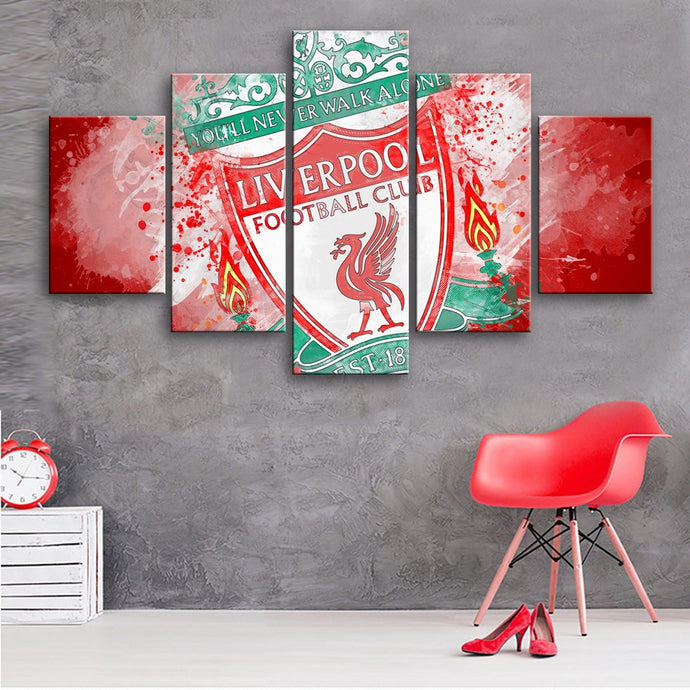 Liverpool  F.C Paint Splash Canvas