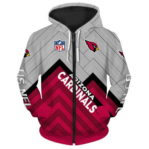 Arizona Cardinals 3D Zipper Hoodie
