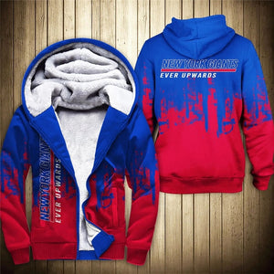 New York Giants 3D Thick Zipper Hoodie