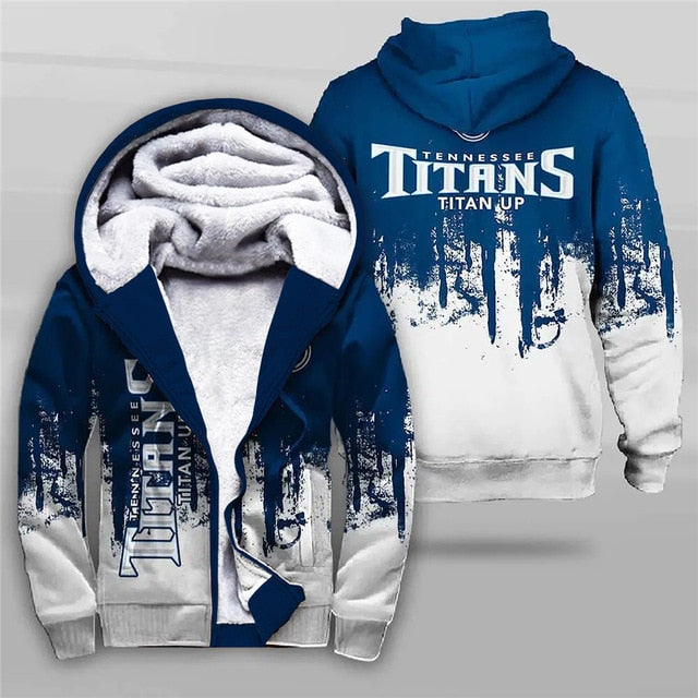 Tennessee Titans 3D Thick Zipper Hoodie