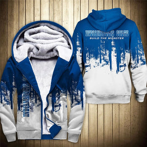 Indianapolis Colts 3D Thick Zipper Hoodie