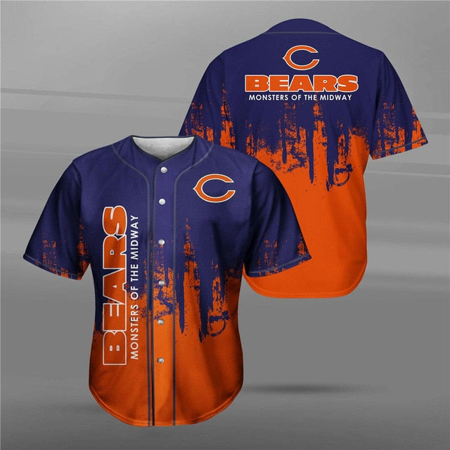 Chicago Bears 3D Baseball Shirt