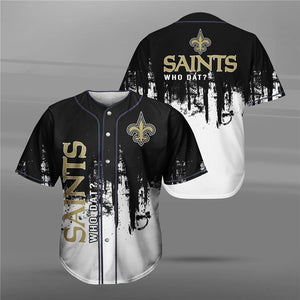 New Orleans Saints 3D Baseball Shirt