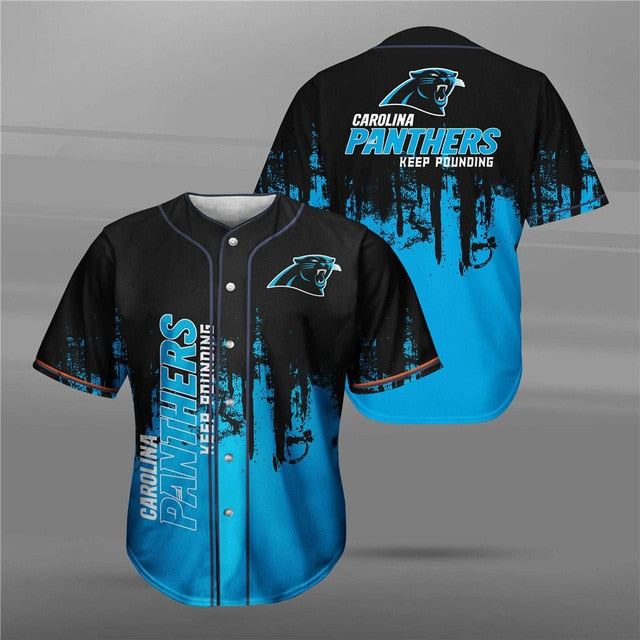 Carolina Panthers 3D Baseball Shirt