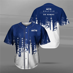 Seattle Seahawks 3D Baseball Shirt