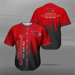 Arizona Cardinals 3D Baseball Shirt