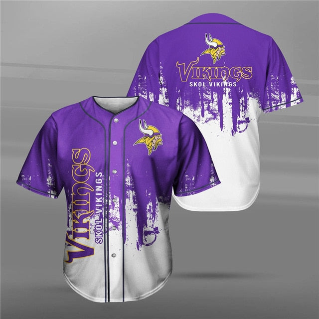 Minnesota Vikings 3D Baseball Shirt
