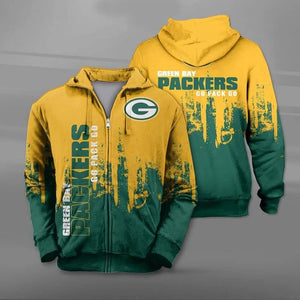 Green Bay Packers 3D Zipper Hoodie