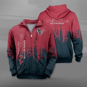 Houston Texans 3D Zipper Hoodie