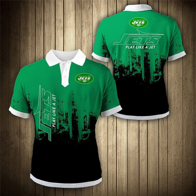 New York Jets 3D Polo Shirt