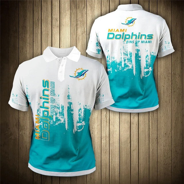 Miami Dolphins 3D Polo Shirt