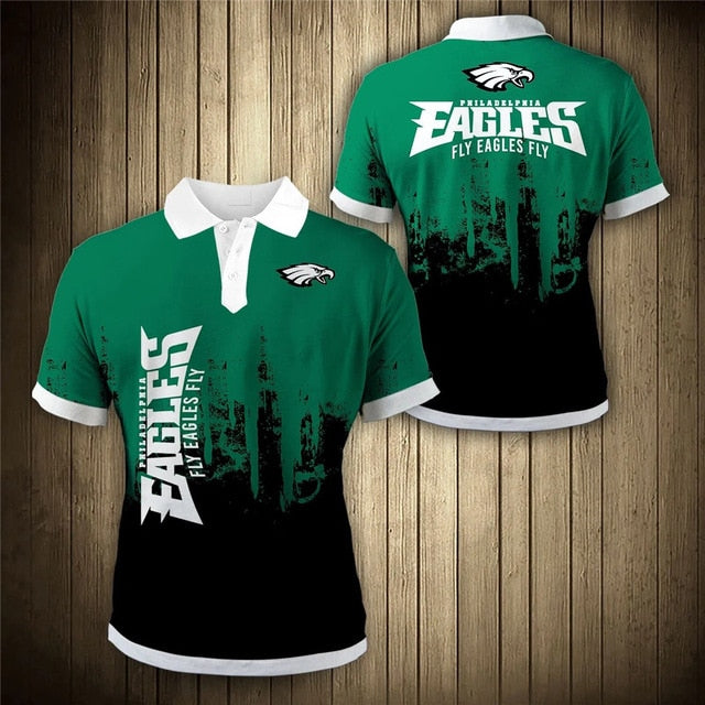 Philadelphia Eagles 3D Polo Shirt
