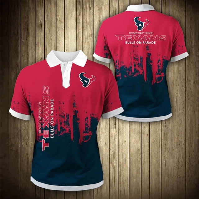 Houston Texans 3D Polo Shirt