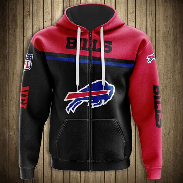 Buffalo Bills 3D Zipper Hoodie