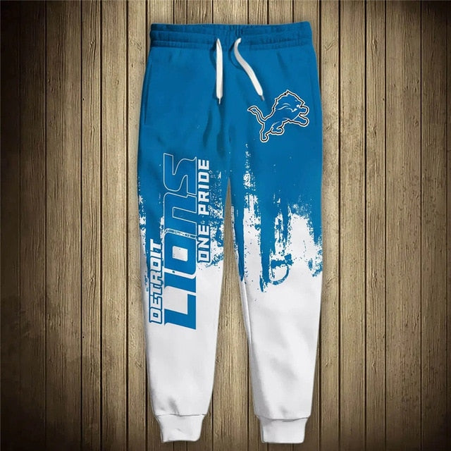 Detroit Lions 3D Sweatpants