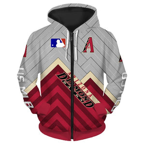 Arizona Diamondbacks 3D Zipper Hoodie