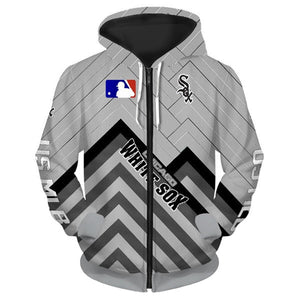 Chicago White Sox 3D Zipper Hoodie