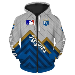 Kansas City Royals 3D Zipper Hoodie