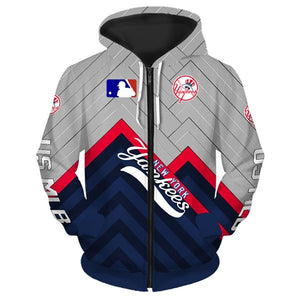 New York Yankees 3D Zipper Hoodie