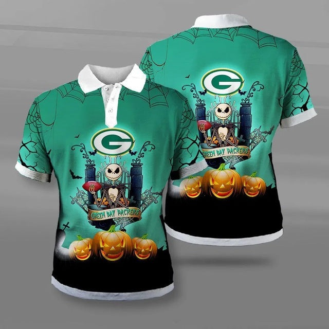 Green Bay Packers Halloween Polo Shirt