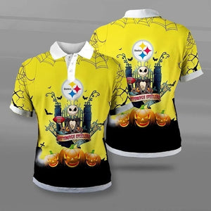 Pittsburgh Steelers Halloween Polo Shirt