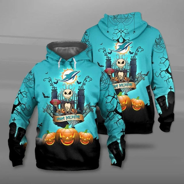 Miami Dolphins Halloween Hoodie
