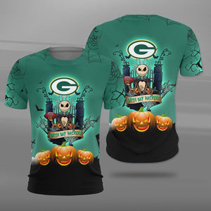 Green Bay Packers Halloween T-shirt