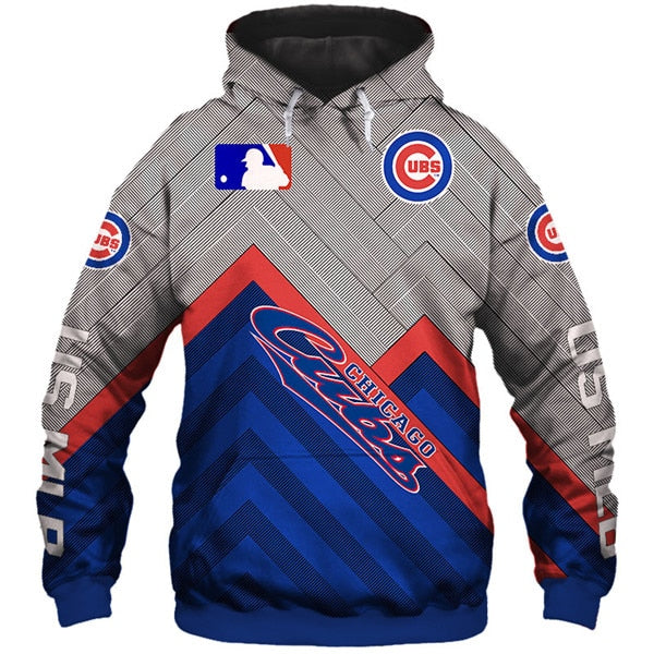 Chicago Cubs 3D Hoodie