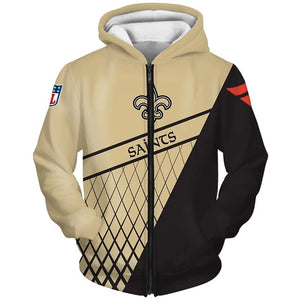 New Orleans Saints 3D Zipper Hoodie