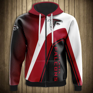 Atlanta Falcons Casual 3D Zipper Hoodie