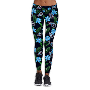 Tennessee Titans Flower Print Leggings