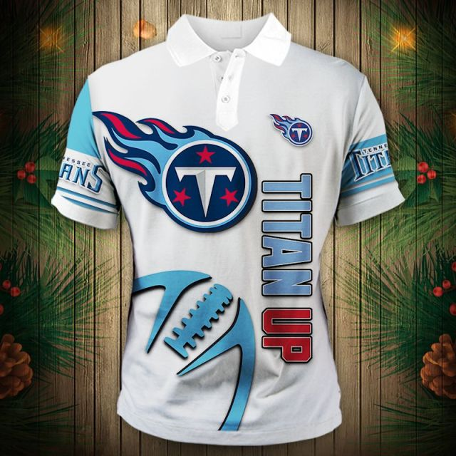 Tennessee Titans Zigzag Casual Polo Shirt