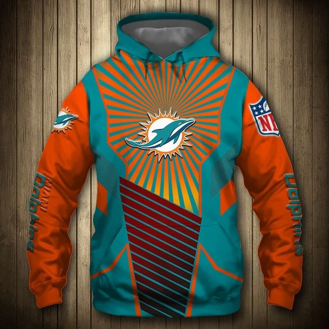Miami Dolphins Sunlight Casual Hoodie